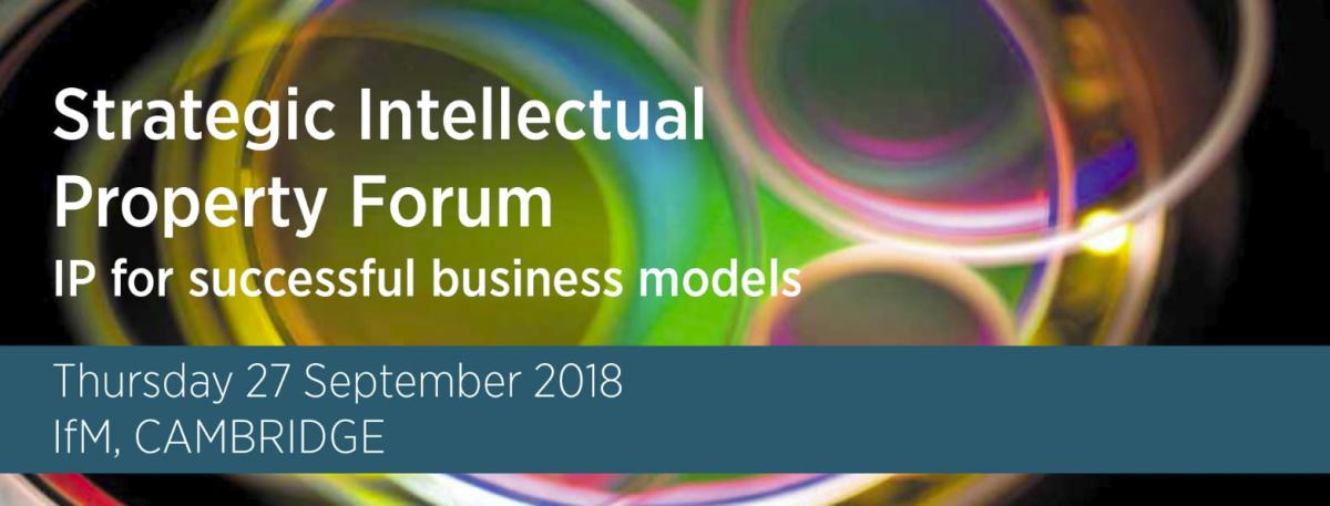 Strategic Intellectual Property Forum advertisement banner