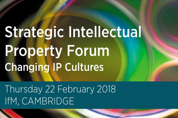 Strategic Intellectual Property Forum advertisment shortened banner